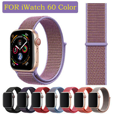 Nylon Woven Sport Loop iWatch Band Strap For Apple Watch Series 3/2/1 38mm/42mm