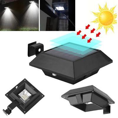 Schwarz 12LEDs Solar Außenleuchte Dachrinnenleuchte Zaun Garten Licht Wandlampe ()