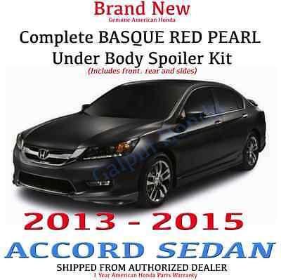 Genuine OEM Honda Accord 4Dr Sedan Complete Under Body Kit  2013 - 2015 R548P