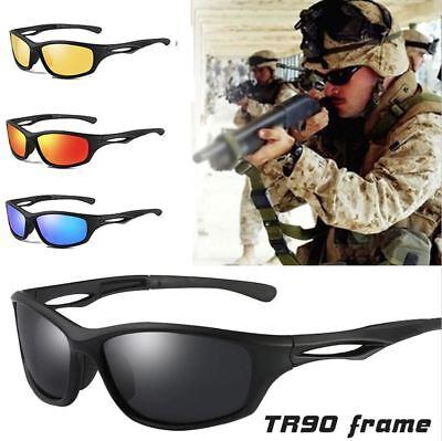 Black Polarized Wrap Around Men Glasses Tr90 Frame Sports Driving (Wrap Around Shades Glasses)