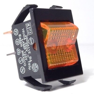 Eaton 2600 Illuminated Rocker Switch Amber 4-pin On-off 110v Commercial Grade