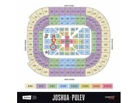 Anthony Joshua boxing ticket Sat 28th Oct - floor seat