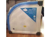 Brand New Wickes slimline white quad cast stone shower tray 900x900