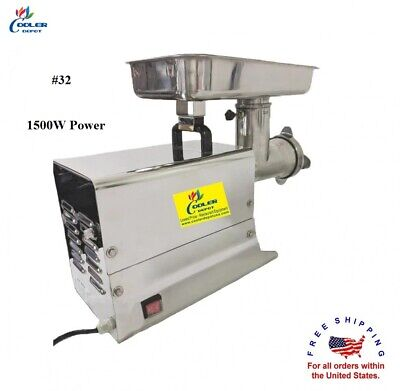 New Commercial Electric Meat Grinder 1500w Stainless Steel Beef Mincer Hfm-32
