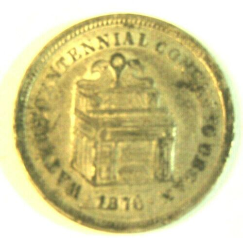 1876 WATERS CENTENNIAL CONCERTO ORGAN PICTORIAL ADVERTISING TOKEN SCARCE
