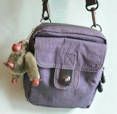 Kipling Shoulder Bag, with 2 pockets In Grey/Black Colour In great condition