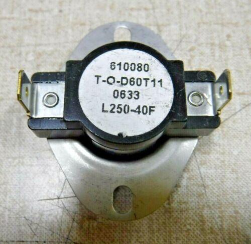 """Emerson Thermodisc T-O-D60T11, L250-40F Temperature Switch (Lot of 3) """"NEW"""""""