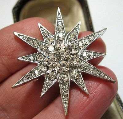 Vintage Art Deco style Jewellery Crystal Rhinestone Sparkly STAR Pin BROOCH