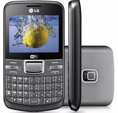 New LG C195 Silver Unlocked GSM Quadband Qwerty WiFi camera camera Smartphone