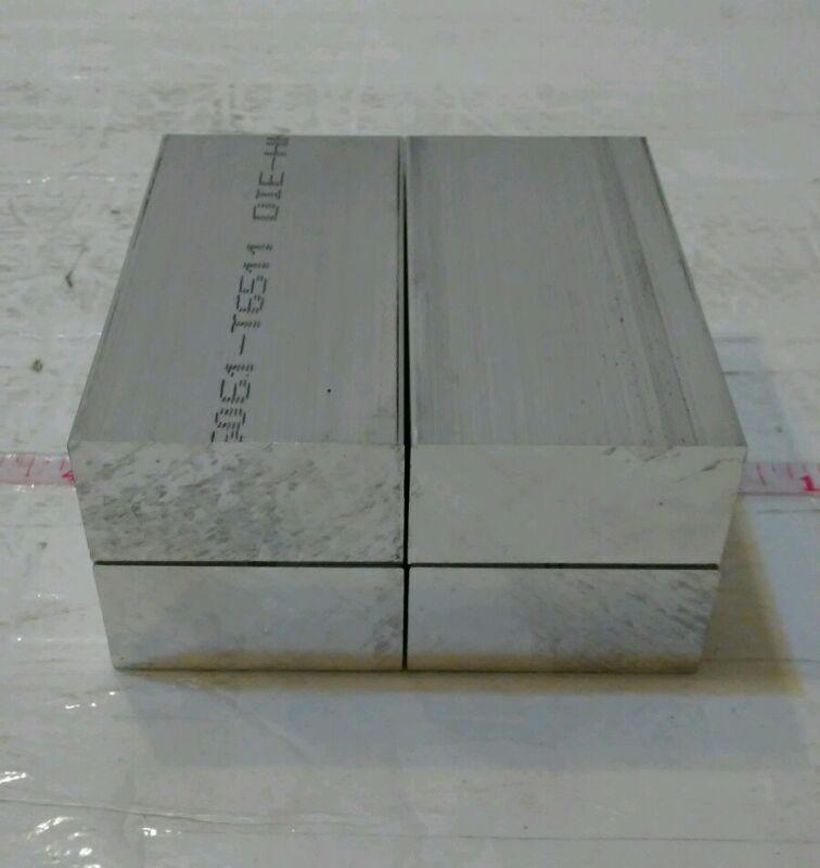 "4 pc 1"" X 2"" X 4"" long new 6061 solid aluminum plate flat stock bar cnc block"