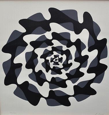 Gerahmte abstrakte  Komposition Serigraphie nummeriert 61/100 - Angel Duarte