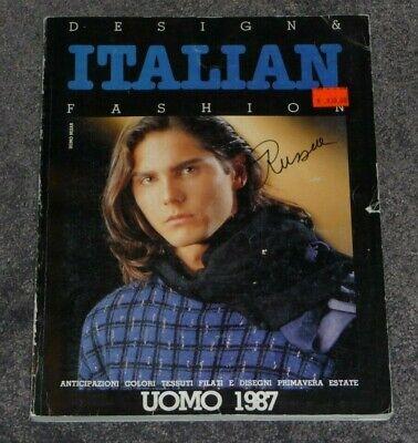 Vintage 80's ITALIAN Design & Fashion Magazine UOMO 1987 Style designer clothing