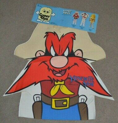 NEW Vtg Yosemite Sam Looney Tunes Collegeville Pullover Youth Costume 1988