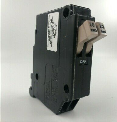 Cutler Hammer Cht2020 Type Ch Twin Single Pole 20a Circuit Breaker Free Shipping