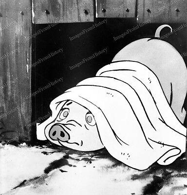8x10 Print Animation Cartoon Charlotte's Web Wilbur the Pig 1952 #2887