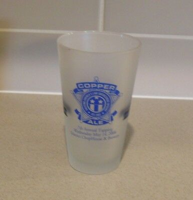 Copper Ale 2008 Pint Glass Law Enforcement Officer's Annual Tapping Frosted