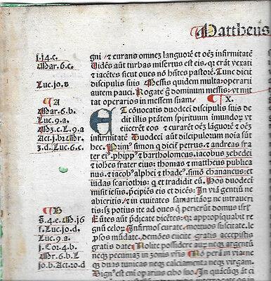 1 RARE 1483 Incunabula Jerome Latin Vulgate Bible + Important NT Textual Variant