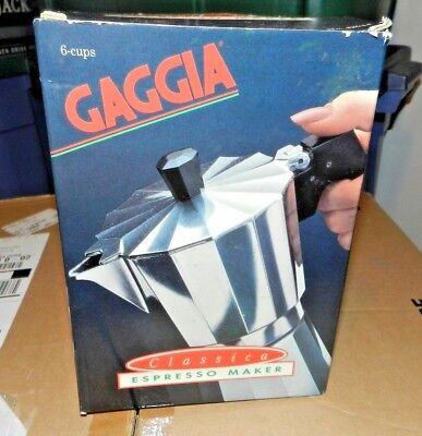 Rare Stovetop 6 cup Gaggia Espresso Maker New Old Stock Made in Spain for sale  Dahlgren