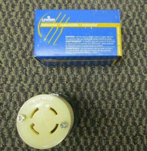 LEVITON 3 pole 4 wire Grounding Locking Connector 2713