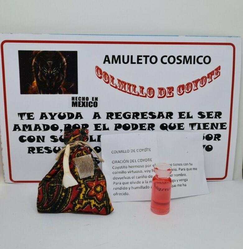 AMULETO COLMILLO DE COYOTE PARA REGRESAR A TU SER AMADO INSTRUCCIONES INCLUIDAS