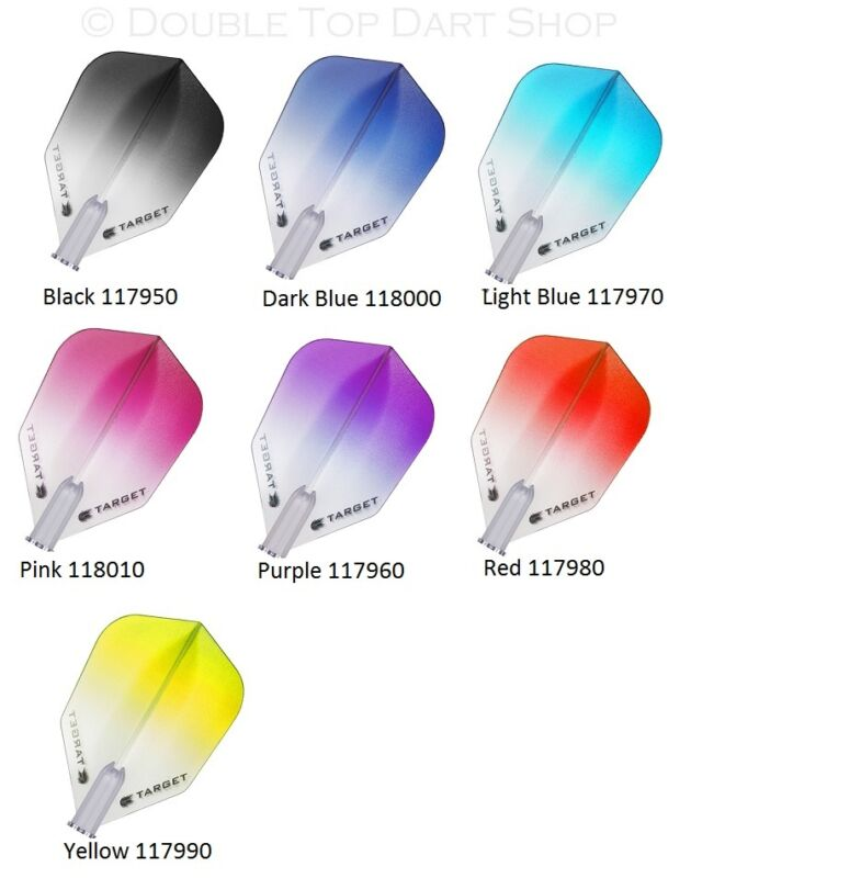 5 x Sets Target Pro 100 Vision Vignette Dart Flights - Two Tone - All 7 Colours
