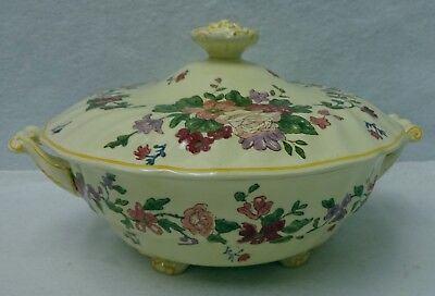 ROYAL DOULTON china WILDFLOWER D5273 pttrn Round Covered Vegetable Serving Bowl