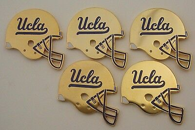 UCLA Bruins Licensed Gold Football Helmet Lapel Hat Pins Lot of 5 Pins