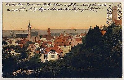 RAVENSBURG Ev Stadtkirche & Mehlsack / Federburgstraße * AK um 1910