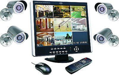 Elro DVR151S Überwachungssystem 8-Kanal inkl 1 TB Festplatte 4 CCD Aussenkameras