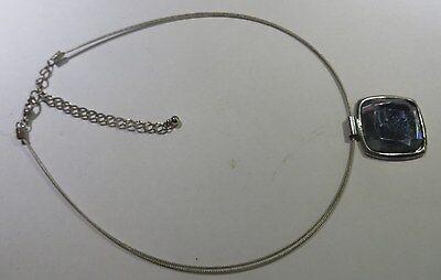 Collier ras du cou – double câble plaqué argent – pendentif Plaqué argent avec p