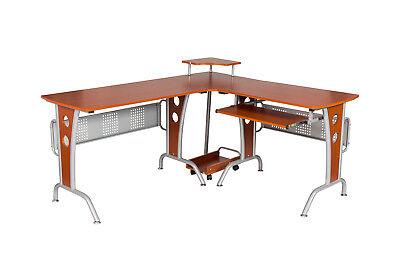 L-shape Computer Desk Office Home Corner Desk Workstation Pc Laptop Work Table