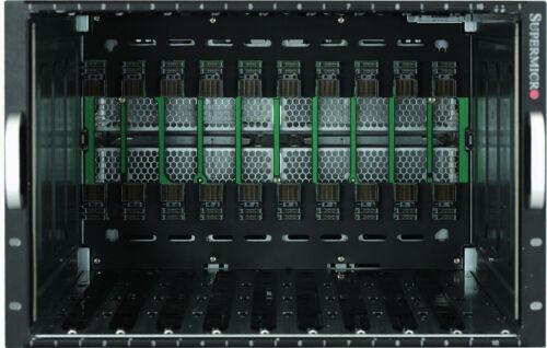 Supermicro SuperBlade 19-inch Blade Server Enclosure 10 Bays SBE-710E-R48 4xPSU