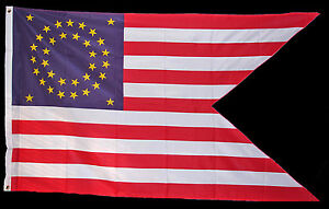 American Civil Indian War Custer Union Federal Cavalry Guidon Flag 5x3ft New