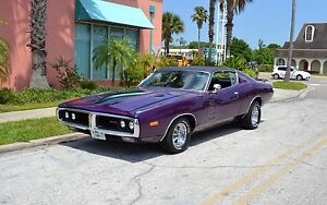1972-CHARGER-H-CODE-340-CAR-A-C-CUSTOM-INTERIOR-CRAGAR-WHEELS-PLUM-CRAZY-PURPLE