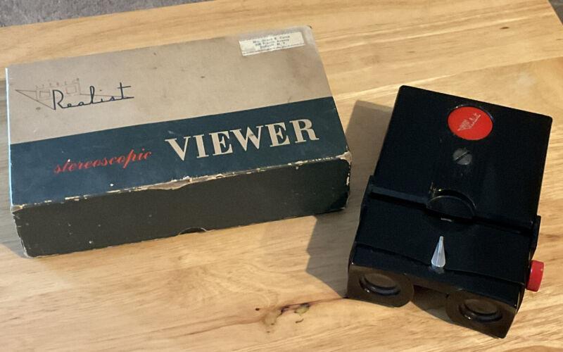 Vintage David White Company Realist Stereoscopic Slide Viewer ST-61 w/box