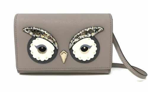 Kate Spade Star Bright Owl Summer City Scape Grey Crossbody Bag