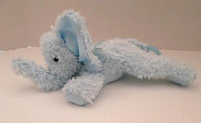 Plush Bearington Baby Light Blue Satin Elephant Stuffed Animal Rattle 10