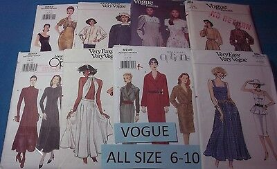 Vogue Patterns ~ All Patterns are Sizes 6-10 ~ ~ ~ Listing (Vogue List)