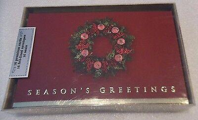 SIB 16 Premium Christmas Cards Seasons Greetings  Foil-Lined Envelopes 16 Seals ()