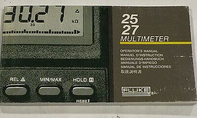 Fluke 2527 Multimeter Operators Manual Pn 738088