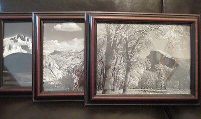 Framed Antique Art of Yosemite National Park Half Dome Glacier Point California
