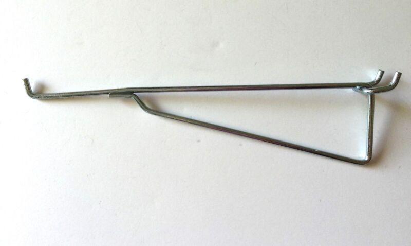 """(6 Pack) Metal 8 Inch Shelf Bracket Garage Peg Hanger for 1/8"""" & 1/4"""" Pegboard"""