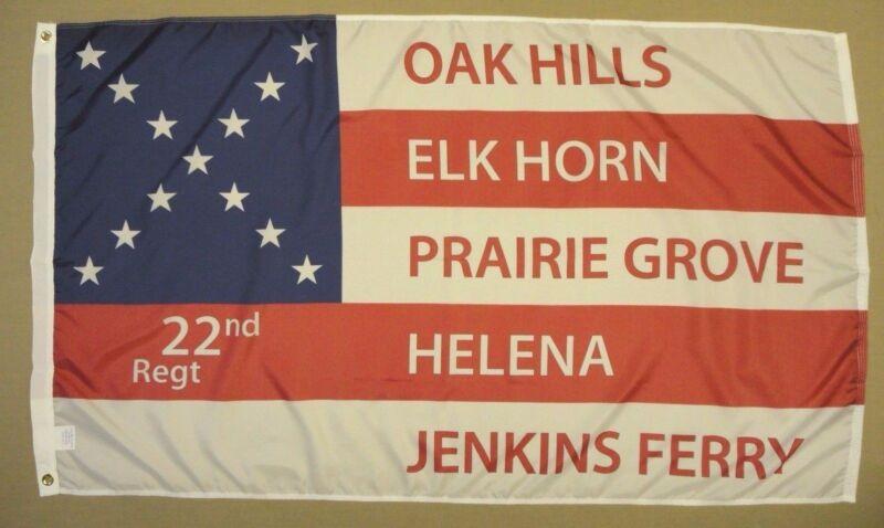 22nd 35th Arkansas AR 1964 Indoor Outdoor Historical Dyed Nylon Flag 3