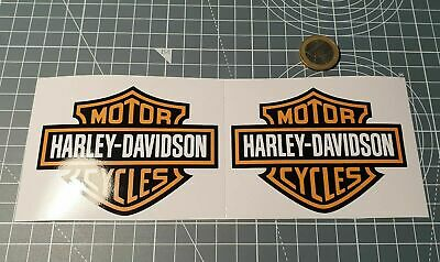 lot 2 stickers autocollant harley davidson logo motor cycle reservoir decal