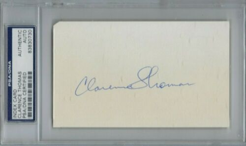 SUPREME COURT JUSTICE Clarence Thomas      -PSA/DNA Certified Authentic AUTO-