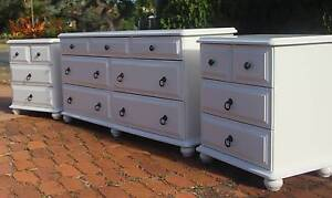 7 drawer American antique white dresser & bedsides suite Cleveland Redland Area Preview