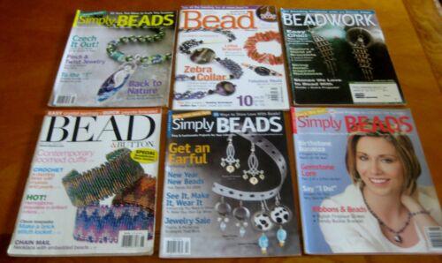 Assorted Beads beadwork  Magazines - Creative Jewelry Making - Beading  lot of 6