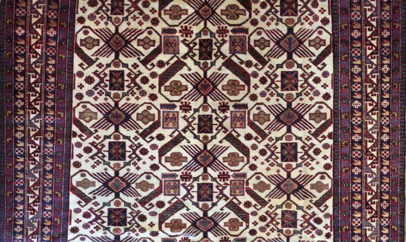 Sensational Shirvan - 1940s Antique Ardebil Rug - Tribal Caucasian - 7.8 X 11.2