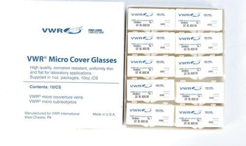 Open box VWR 48380-048 Micro Cover Glasses New case of 10