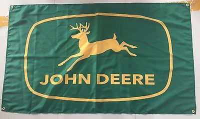 JOHN DEERE BANNER FLAG SIGN - GREEN & YELLOW - 3 ft X 5 ft